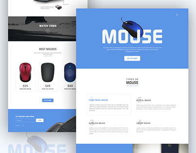 Mouse - Product Landing Page