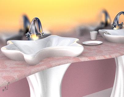 Shell Inspired Bathroom