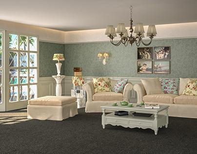 interior design reception, living room, dining room