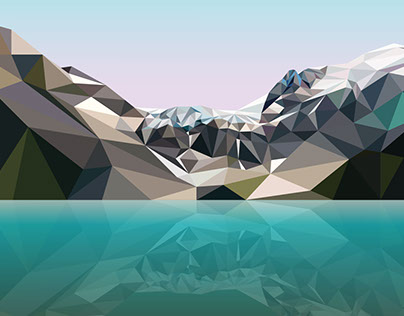 Lake Joffre - Digital Art