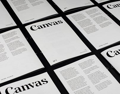 Canvas Nº1 (reed. 2017) - Cultural fanzine