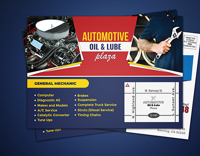 #Automotive EDDM Postcard