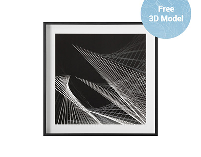 RH Graphite Structures Photo in Frame FREE 3D Model
