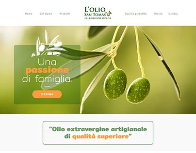 Olio San Tomas | Web Design - Landing Page