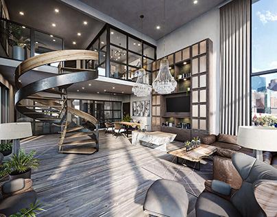 3D rendering for Multyfamily apartment