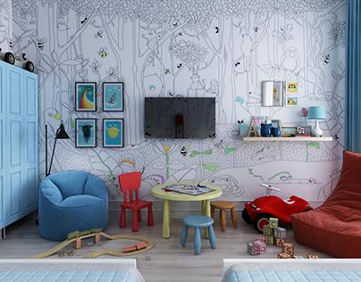 Scandinavian style. Children's room
