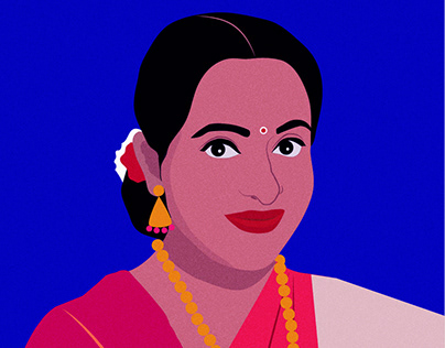 Self- portrait in Saree