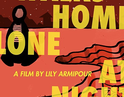 a Girl Walks Home Alone at Night Poster Girl Walks Home Alone at Night