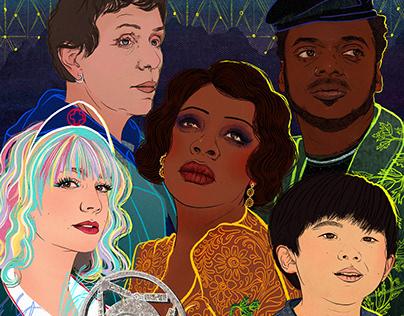 LA Times- Oscars Illustration