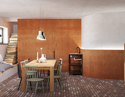 Relax/Dinning room with sauna