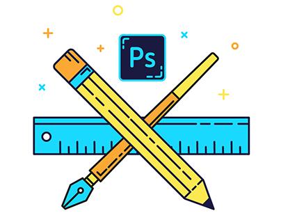 Three top stages of graphic designer