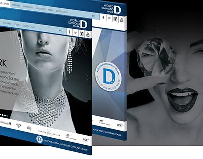 World Diamond Mark website redesign concept