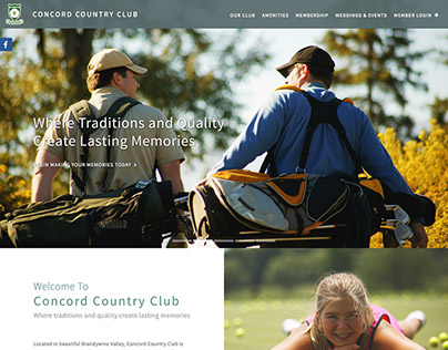 Concord Country Club Website Redesign