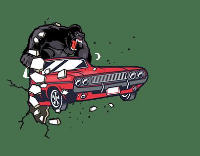 GTO Garage Muscle Car Art