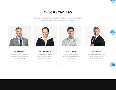 Public Speaking Elementor WordPress Website