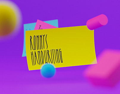 Ronnys Handwriting Font