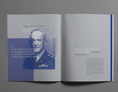 Smart Phone E-waste / Booklet Design
