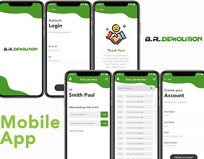 BRD Mobile app Ui