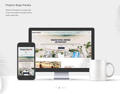 Baga Paralia Website Design