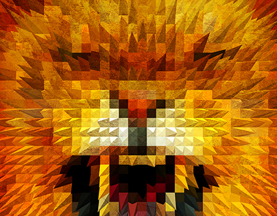 Animal Poster Lion, Eagle, Wolf