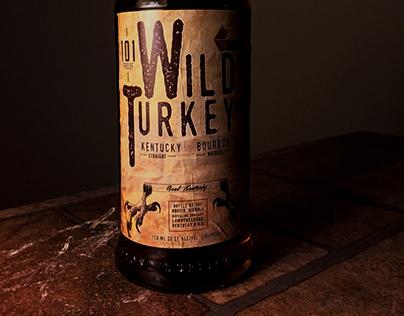 Wild Turkey Bottle Design. Rebrand and New Design.