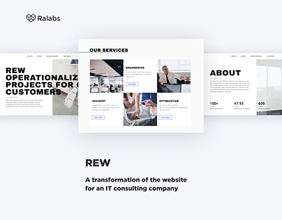 REW Consulting Services — Website Redesign