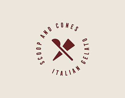 Scoop & Cones Ice Cream Branding