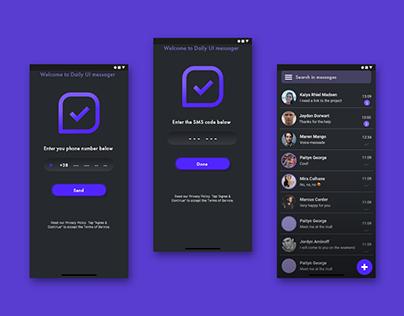 Daily UI #013 - Messaging app