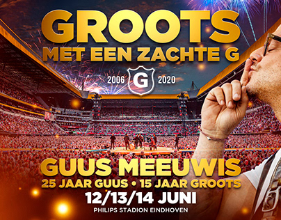 Design and key-visual for Groots concerts 2020