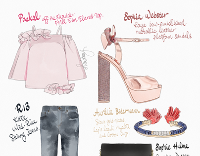 Fashion Outfit Illustrations