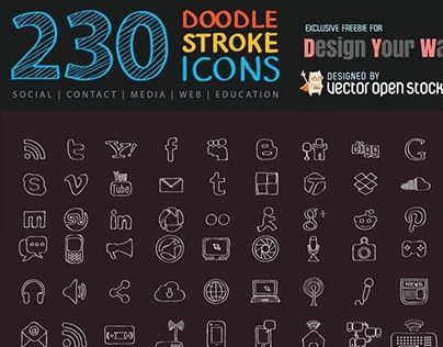 230 Doodle Stroke Icons