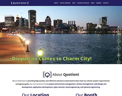Quotient Inc. DrupalCon 2017 Landing Page