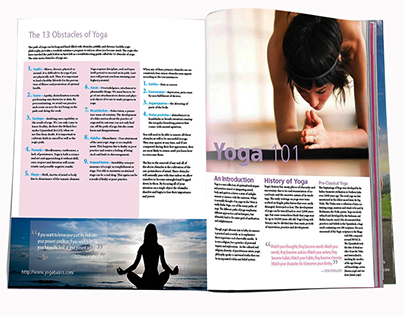 Yoga magazine layout