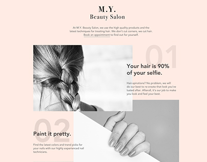 Minimalist Beauty Salon Website Concept
