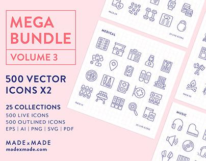 Line Icons – Mega Bundle Volume 3
