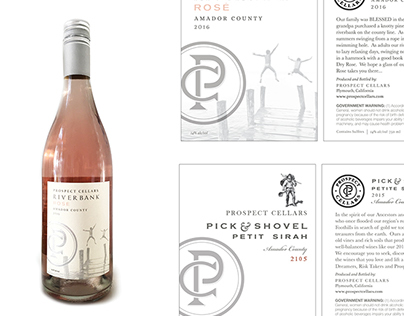 Prospect Cellars. Wine Labels
