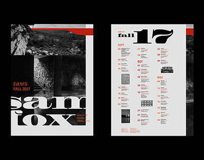Sam Fox Events Calendar