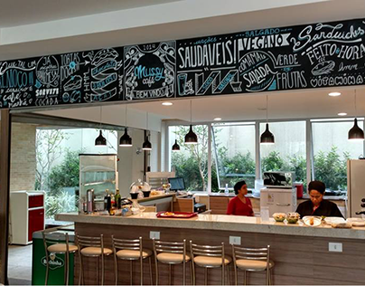 mussy café - chalk letterign