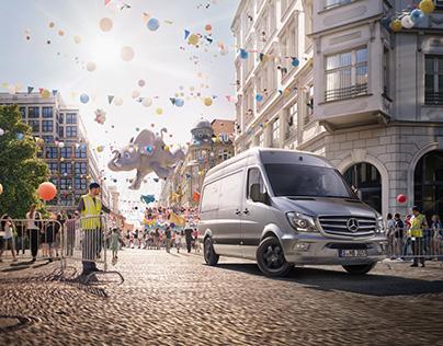 Mercedes Sprinter with Martijn Oort - CGI