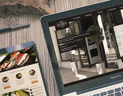 Loja dos Queijos, Web Design