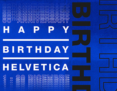 Happy Birthday Helvetica - Posters