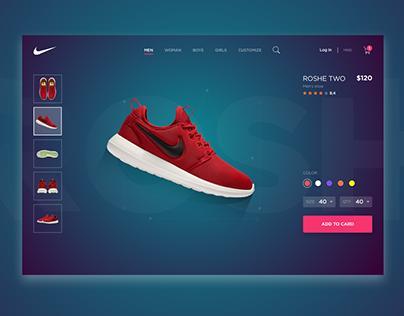 Nike shoes card