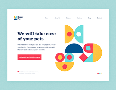 Pet Care Web Concept with Paaatterns!!!
