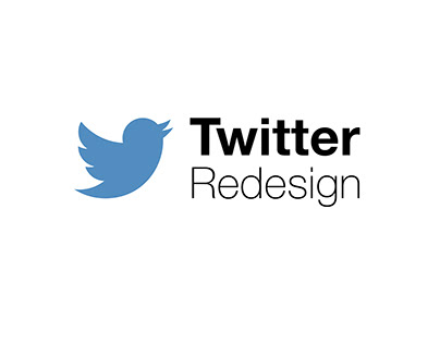 Redesign of Twitter home page interface