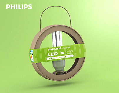 Philips Light Bulb Eco Friendly Packaging