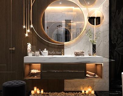 Master bathroom design in kSA (private villa)