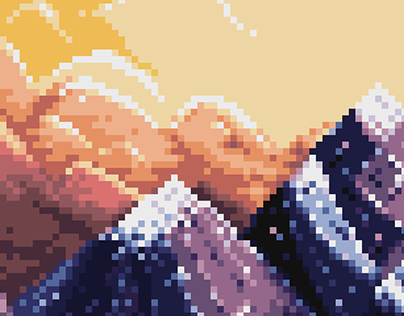 Mountains in the Sunset