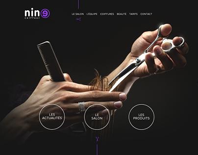 Web design - Nine Coiffure