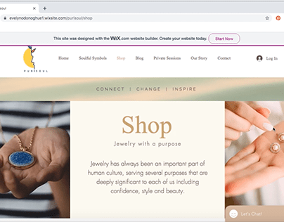 Web Design For PuriSoul E-commerce Website