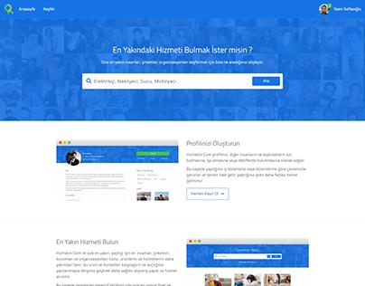 Hizmetin.com Landing Page Design